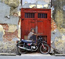 Alley Motorcyclist by SouthcombeFH