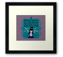 Lydia Incantation (Purple) Framed Print