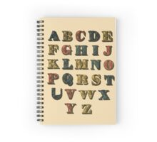 Vintage Circus Alphabet Spiral Notebook