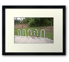Knitted Worm Framed Print