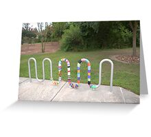 Knitted Worm Greeting Card