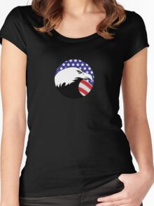USA Eagle Women's Fitted Scoop T-Shirt