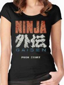 Ninja Gaiden Vintage Emblem Women's Fitted Scoop T-Shirt