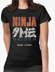 Ninja Gaiden Vintage Emblem Womens Fitted T-Shirt