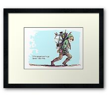 It's dangerous to go alone! Take this. Framed Print