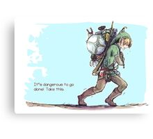 It's dangerous to go alone! Take this. Canvas Print