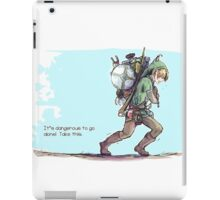 It's dangerous to go alone! Take this. iPad Case/Skin