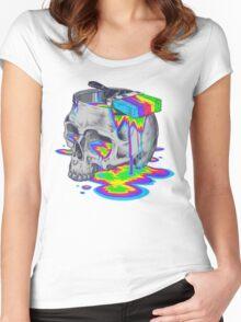 Rainbow Brain Women's Fitted Scoop T-Shirt