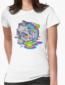 Rainbow Brain Womens Fitted T-Shirt