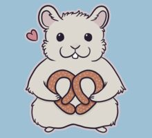 I love you more than this hamster loves pretzels One Piece - Short Sleeve