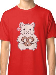 I love you more than this hamster loves pretzels Classic T-Shirt
