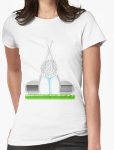Golf Clubs And Ball Womens Fitted T-Shirt