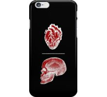 Put your heart above your head - red & white iPhone Case/Skin