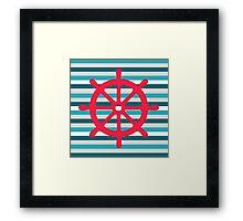 rudder Framed Print