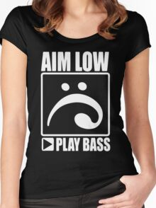 Aim Low Play Bass Women's Fitted Scoop T-Shirt