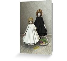 Portrait of two little girls Greeting Card