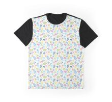Multicolored Assorted Leaf Silhouette Pattern Graphic T-Shirt