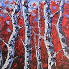 Winter prelude by Lisa Elley. Palette knife painting in oil, no brush.  by lisaelley
