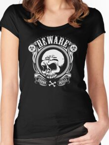 Beware Urban Skulls Women's Fitted Scoop T-Shirt