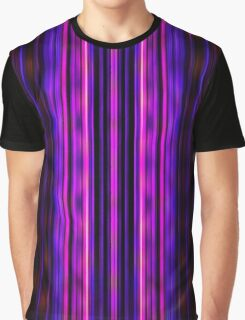 Glowing purple lines pattern Graphic T-Shirt