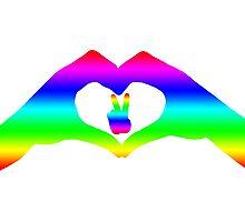 Love & Pease LGBT Rainbow  Photographic Print