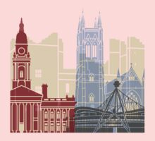 Bolton skyline poster One Piece - Long Sleeve
