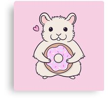 Donut Hamster Canvas Print