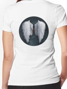 Aion white wings Women's Fitted V-Neck T-Shirt