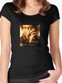 once upon a time, rumpelstiltskin, rumple, hello dearie, ouat, robert carlisle Women's Fitted Scoop T-Shirt