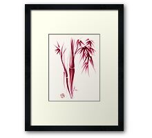 Inspiration - Sumie ink brush zen bamboo painting Framed Print