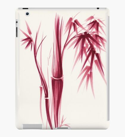 Inspiration - Sumie ink brush zen bamboo painting iPad Case/Skin