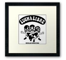 mexican wrestling lucha libre13 Framed Print