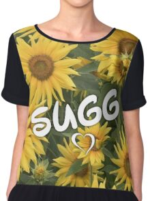 Sugg Sunflowers Chiffon Top