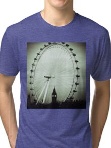 London Eye and Big Ben Tri-blend T-Shirt