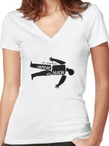 Anatomy of a murder Women's Fitted V-Neck T-Shirt