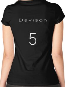 Peter Davison 5th Doctor Jersey Women's Fitted Scoop T-Shirt