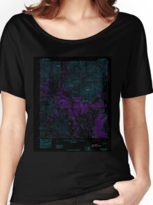 USGS TOPO Map Alaska AK Arctic B-3 354081 1983 63360 Inverted Women's Relaxed Fit T-Shirt