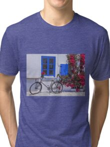 ...on your bike ( in Greece)   Tri-blend T-Shirt