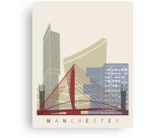 Manchester skyline poster Canvas Print