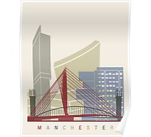 Manchester skyline poster Poster