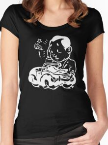 Crashed Car Women's Fitted Scoop T-Shirt