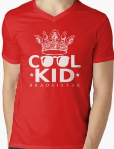 Crowned Cool Kid Mens V-Neck T-Shirt