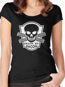 Death By Bacon Women's Fitted Scoop T-Shirt