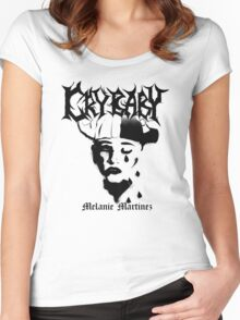 melanie martinez's cry baby black metal style Women's Fitted Scoop T-Shirt