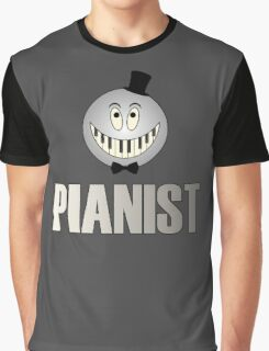 Cool Pianist Graphic T-Shirt