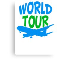 TripAdvisor World Tour World Earth Airplane Canvas Print