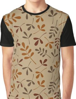 Fall Color Assorted Leaf Silhouettes Graphic T-Shirt