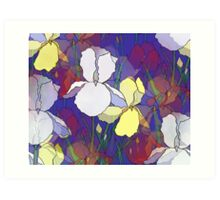 Iris Abstract Art Print