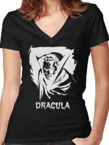Dracula Classic Women's Fitted V-Neck T-Shirt