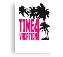 Time 4 Vacation palm beach sun Canvas Print